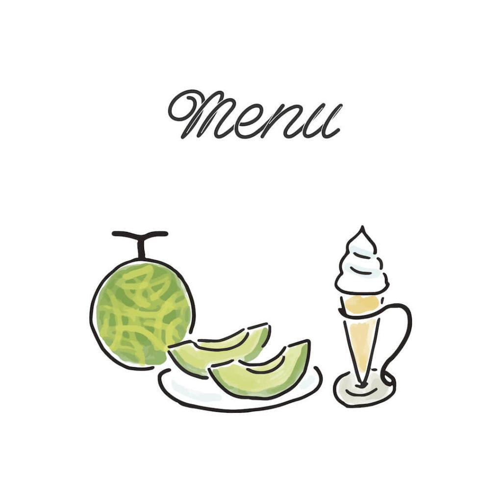 大好き北海道!夕張メロンとソフトクリーム